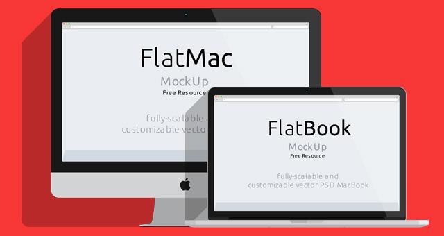 012 imac macbook mockup flat psd 1