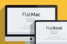 012 imac macbook psd flat mockup m