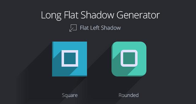 015 long large flat shadow icon app psd 1