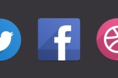 021 psd flat social icons m 1