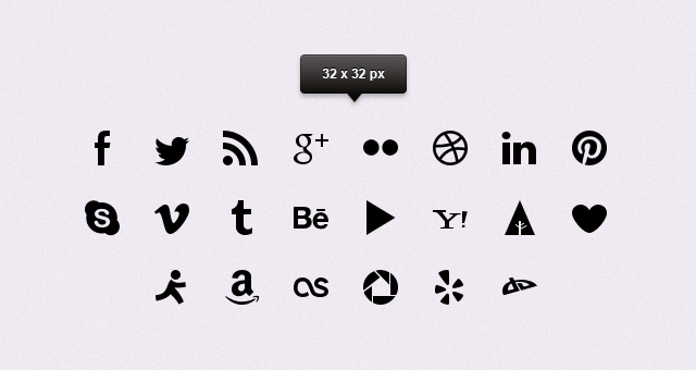 025 simple clean social icons share psd png 1